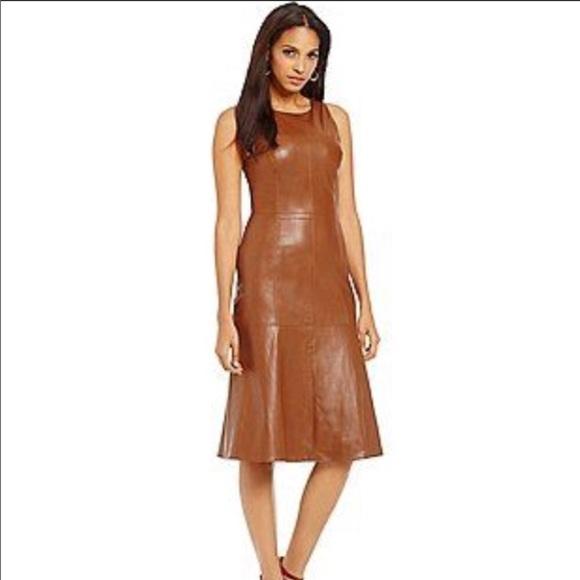 daniel cremieux dresses cremieux brown fit flair faux leather